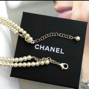CHANEL Jewelry - CHANEL Metal, Glass, Gold Pearly White, Crystal